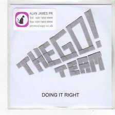 (FN939) The Go! Team, Doing It Right - 2007 DJ CD