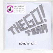 (FN939) The Go! Team, Doing It Right - 2007 DJ CD