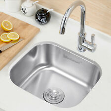 Stainless Steel Sink Commercial Kitchen Catering Single Bowl Laundry Undermount