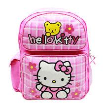 Hello Kitty Teddy Medium Backpack & School Bag Girls Kids Sanrio Pink