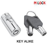 Lot of 4 Vending Plug Lock Universal Replacement Snake Soda Machine Black Cover