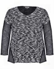 Cotton Scoop Neck Plus Size Jumpers & Cardigans for Women
