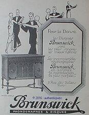 PUBLICITE BRUNSWICK PHONOGRAPHE POUR LA DANSE DE 1926 FRENCH AD PUB ART DECO