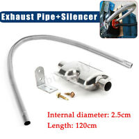 120cm Stainless steel Exhaust Pipe + Silencer For Car Parking Air Diesel Heater