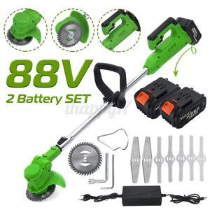 Decespugliatore a Batteria Elettrico 88V 1000W Tagliaerba Tagliabordi