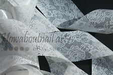 """Bridal lace"" transfer nail art foil - 1 meter"