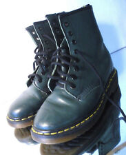 Green Smooth Doc Dr. Martens 1460 Women's Boots 8 Hole Lace Size 5 US