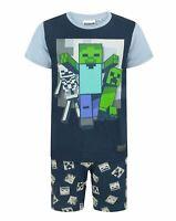 Minecraft Undead Boy's / Kids Short Navy Pyjamas Set