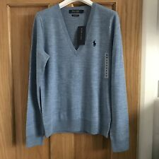BNWT *CLEARANCE* Ralph Lauren Polo Ladies Merino Wool Jumper Size L RRP £125