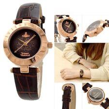 Vivienne Westwood VV092BRBR Brown Dial Leather Strap Ladies Watch
