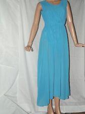 Xin Yan ~ Blue Chiffon Sleeveless Flowing Ladies Dress ~ Size XL ~ New With Tags