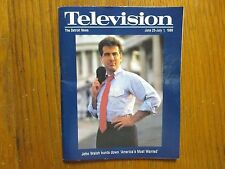 June 25, 1989 Detroit News Television  Magazine(JOHN WALSH/AMERICA'S MOST WANTED