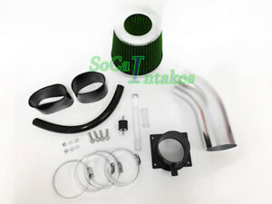 Black Green Air System Kit & Filter For 1998-05 Volkswagen Passat 2.8 V6 GL GLS