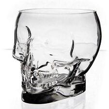 Crystal Skull Bowl Clear Hand Formed Vase Halloween Glassware Horror Fan Gift