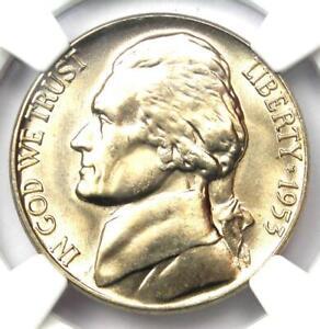 1953-D Jefferson Nickel 5C Coin - Certified NGC MS65+ FS Plus Grade - $300 Value