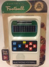 NEW Mattel Football Handheld Electronic Game  Retro 70's Classic Sounds/Lights