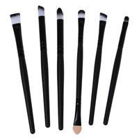 6 Stueck Kosmetik Set Lidschatten Lidstrich Nase Smudge Pinsel Werkzeug Make- X1