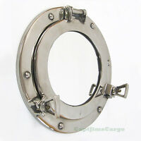 "Ship's Cabin Porthole Mirror 9"" Chrome Finish Aluminum Nautical Wall Decor New"