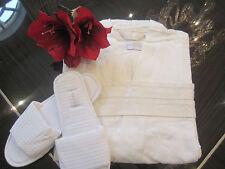 FRETTE XL Pique Cotton Ivory Kimono Robe w/Belt & Slippers! NEW PROMO AUCTION!