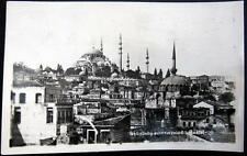 TURKEY ~ 1940's ISTANBUL  ~ SULEYMANANIYE MOSQUE   Real Photo PC  RPPC