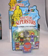 2002 I-Men Adventure Superstars Hanna Barbera METEOR MAN & GRAVITY GIRL set MOC