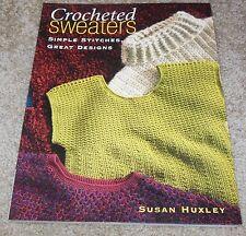 CROCHETED SWEATERS crochet pattern book SALE
