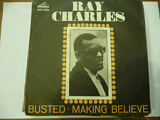 "RAY CHARLES""BUSTED/MAKING BELIEVE-disco 45 giri VOCE PADRONE Italy 1963"""