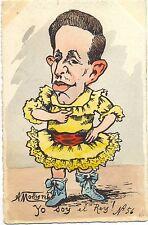 """España, español rey """"Kaido soy el rey"""", sign. molynk para 1910"""
