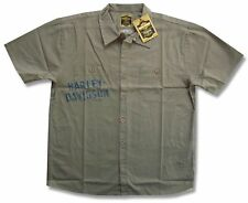 "HARLEY DAVIDSON & TRUNK LTD DESIGNER ""GREASE MONKEY"" WORK SHIRT - NWT SMALL"