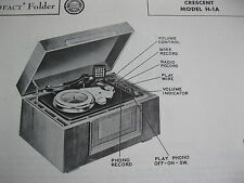 CRESCENT H-1A SERIES WIRE RECORDER PHOTOFACT