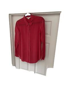 Boden Ladies Pink Silk Shirt, Size 10