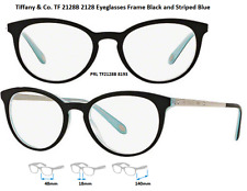 Tiffany & Co. TF2128B 8193 Eyeglass Frames Black/Tiffany Blue Size 48 Authentic