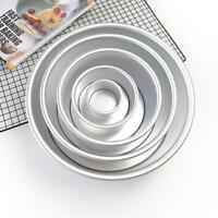 2/4/6/8/10'' Aluminum Alloy Round Cake Pan Tins Baking Mould Bakeware Tray HOT
