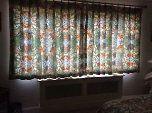 Professionally Handmade Curtains In Pottery Barn Print