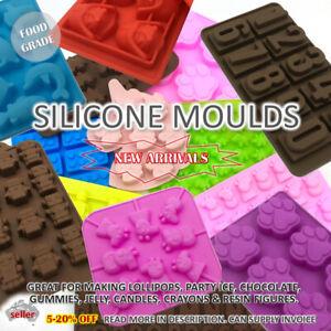 SILICONE MOULD Chocolate Ice Lollipop Crayon Candle Resin Lego Unicorn Dinosaur