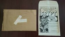 "Russ Cochran 1979 Mailing Envelope + 10x15"" Tales From Crypt Portfolio EC Comics"