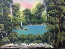 Bob Ross style Oil Painting on Canva (Deep in the Forest) by Diana