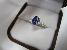 STUNNING 14 KT GOLD 1.48 CTW TANZANITE AND DIAMOND RING !!!!!!!