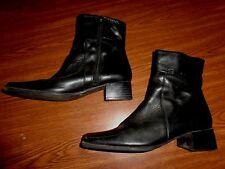 ELLE BLACK ZIPPER BOOTS WOMENS SIZE 39