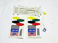 TYCO Mattel HO Slot Car  Lot of  Flags & Poles