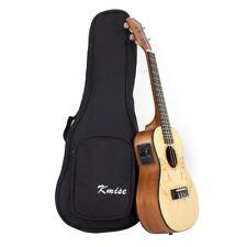 """Kmise Solid Spruce 23"""" Electro-Acoustic Concert Ukulele Uke Guitar With Bag"""