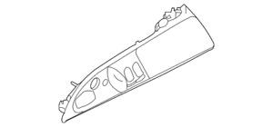 Genuine Porsche Door Window Switch Bezel 997-555-351-03-A03
