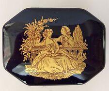 Beautiful Vintage Limoges Je t'aime trinket box gold trim