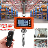 1000kg HD LED Electronic Digital Hook Crane Scale With Remote control