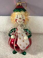 Christmas ornament figural glass clown Santa's best Ch5239