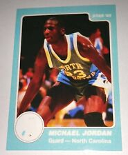 Michael Jordan 1985 Star North Carolina Rookie Error Logo Basketball Card No 4