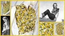 vtg 50's pin-up farmer's daughter rockabilly corn cob print sleeveless top shirt