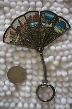 Toronto Canada Vintage Metal Folding Mini Fan Souvenir Keychain Key Ring #22793