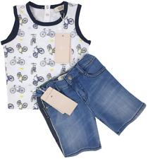 NEW Emporio Armani Junior RRP £149 Kids Baby Vest Shorts Set AGE 12 MONTHS A729