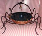 LONGABERGER Iron SPIDER LEGS & Small Autumn Treats Basket Complete Set Halloween